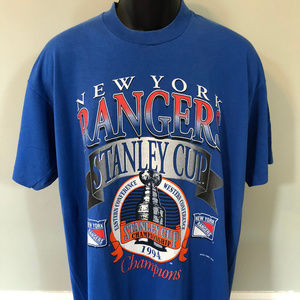 1994 New York Rangers Stanley Cup Shirt NHL Vtg